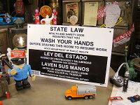 手を洗いましょう看板★アメリカ雑貨★アメリカン雑貨