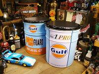 世田谷ベースで所さんが座ってるあのガルフのオイル缶スツール2種類セット★アメリカ雑貨★アメリカン雑貨