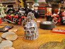 アメリカのバイカーのお守り ガーディアンベル(スカル) ■ バイカーに人気のお守り アメリカ雑貨 アメリカン雑貨 ハーレーダビッドソン Harley-Davidson バイカーベル プレゼント バイク乗り 鉄馬 ロゴ おしゃれ かっこいい アメリカ 雑貨 通販