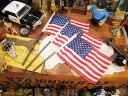 星条旗のミニフラッグ(3本セット) ■ アメリカ雑貨 アメリカン雑貨 アメリカ 雑貨 看板 通販 インテリア デスク 小物 こだわり派が夢中になる! 人気の