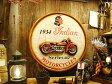 インディアンモーターサイクル1934のラウンド木製看板 ■ ウッドサイン サインプレート アメリカ アンティーク 木製 ウッド 看板 サインボード アメリカ雑貨 アメリカン雑貨