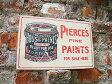 昔のアドバタイジングのウッドサイン(ペンキ缶) ■ 木製 ウッド アメリカ 看板 サインプレート サインボード アンティーク アメリカン雑貨 アメリカン雑貨 カントリー雑貨 ナチュラル雑貨