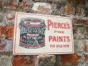 昔のアドバタイジングのウッドサイン(ペンキ缶) ■ 木製 ウッド アメ...