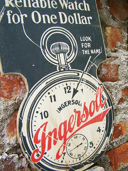 昔のアドバタイジングのウッドサイン(ブルドッグ)★アメリカ雑貨★アメリカン雑貨
