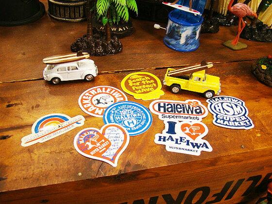 ハレイワスーパーマーケットのステッカー(オリジナルロゴ)★ハワイ雑貨★アメリカ雑貨★アメリカン雑貨