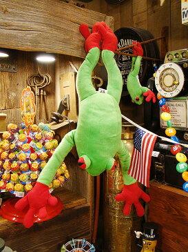 全国のカエル好きに贈ります! カエルのぬいぐるみ(Lサイズ) ■ こだわり派が夢中になる!人気のアメリカ雑貨屋 通販 アメリカ雑貨 アメリカン雑貨 インテリア雑貨 カッコイイ男の部屋!おしゃれ 生活雑貨 ギフト プレゼント