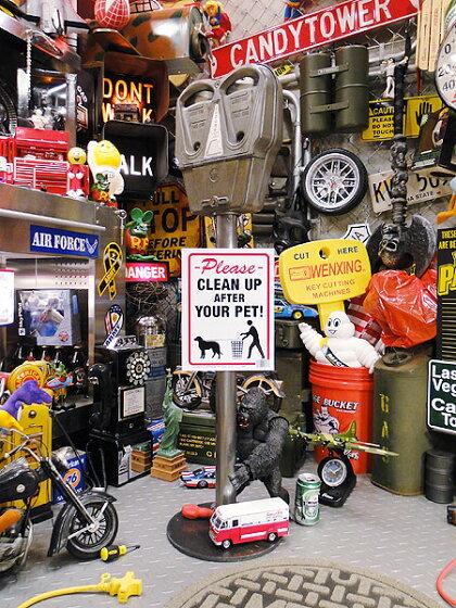 アメリカの警告サインプレートS(犬のマナーは守りましょう)★アメリカ雑貨★アメリカン雑貨