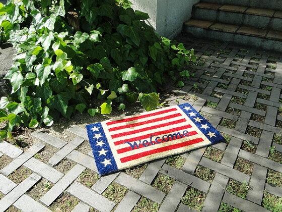 星条旗ウェルカムのココマット★アメリカ雑貨★アメリカン雑貨★玄関マット