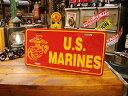 U.S.マリーンのライセンスプレート ■ ナンバープレート アメリカ看...