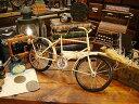 アンティーク自転車のブリキオブジェ(アイボリー) ■ こだわり派が夢中になる!人…