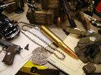 ミリタリー弾丸ネックレス(12.7mm弾) ■ アクセサリー アメリカ雑貨 アメリカン雑貨 ミリタリーグッズ 文房具 文具