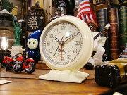 ダルトン オールドモーニングクロック アイボリー アメリカ アメリカン インテリア おしゃれ カントリー 置き時計