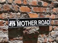 アメリカンブリキ看板ルート66のストリートサインマザーロード