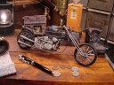 アメリカンチョッパーバイクのブリキオブジェ