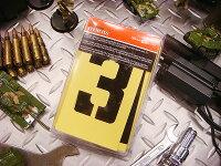 HILLMANペーパーステンシルプレート47ピース英数字セットオイルコート紙タイプ(3インチ)
