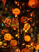 ジャラジャラライト ハロウィン パンプキンパーティライト かぼちゃ カボチャ ジャック・オ・ランタン ジャコランタン ジャックオランタン ウィーン パーティー アメリカン おしゃれ