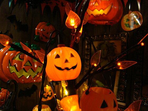 ハロウィン10連パンプキンパーティライト★ハロウィングッズ雑貨飾りかぼちゃカボチャジャック・オ・ランタンジャコランタンジャックオーランタンディスプレイハロウィーンパーティー装飾アメリカ雑貨アメリカン雑貨