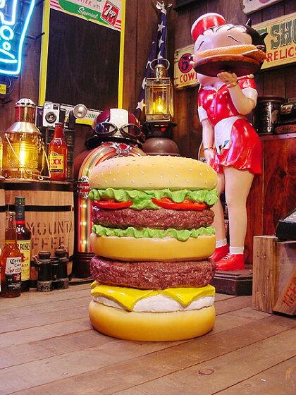 アメ雑貨好きが選ぶとイスはこうなる!ハンバーガーチェアー★椅子★アメリカ雑貨★アメリカン雑貨