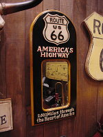 ルート66のウッドミラーボード