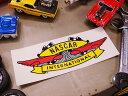 ノスタルジックステッカー NASCARインターナショナル ウィング ■ 自分仕様だから愛着も強くなる! 世田谷ベース 人気のアメリカ雑貨屋 おしゃれ おもしろ アメリカン雑貨 車 バイク スーツケース デカール シール かわいい アルファベット 英文字 アメリカ 雑貨