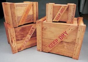 コーヒーテーブルに人気!輸出用木箱 Bタイプ うす茶 LLサイズ ★アンティーク風木箱 木箱...