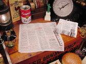 ニュースペーパーナプキン 50枚入り(ホワイト) ■ 紙ナプキン アメリカ雑貨 アメリカン雑貨 アメ雑貨 インテリア 雑貨 人気 おしゃれ 通販 カントリー雑貨 キッチン ナチュラル