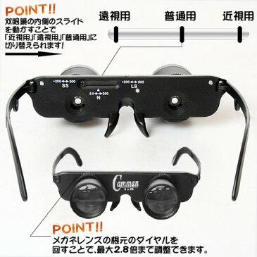 2.8倍メガネ型ルーペ
