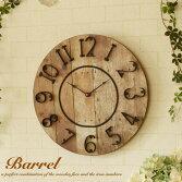 壁掛け時計RBarrelClock掛け時計時計壁掛け北欧アンティークレトロアンティーク風おしゃれかわいい姫姫系カフェカフェ風木木製掛時計クロックウォールクロックリビングダイニングガラスギフトフレンチカントリーナチュラルシンプル