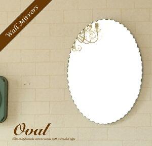 ミラー 壁掛け 鏡 オーバル