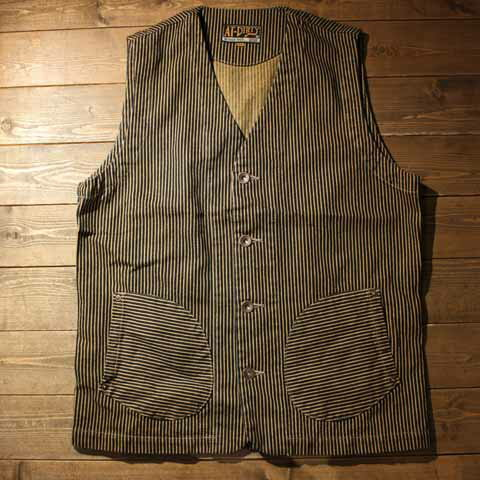 "AT-DIRTY""WORKERS VEST""BROWN HICKORY【AT-DIRTY】(アットダーティー)正規取扱店(Official Dealer)Cannon Ball(キャノンボール)【あす楽対応/送料無料/ワークベスト/ワーカーズ/ブラウンヒッコリー】"