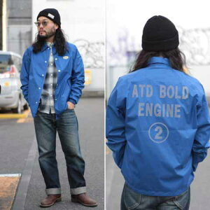 """AT-DIRTY""""W.PCOACHJACKET""""BLACK【AT-DIRTY】(アットダーティー)正規取扱店(OfficialDealer)CannonBall(キャノンボール)【あす楽対応/送料無料/コーチジャケット】"""