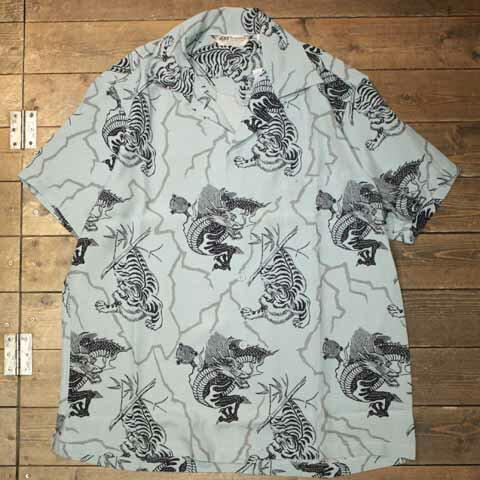 トップス, カジュアルシャツ AttractionsARTtraction SPORTOGSART057 Tiger Dragon Rayon ShirtSaxAttractions()(Offici al Dealer)Cannon Ball()WEARMASTERSBILTBUCK