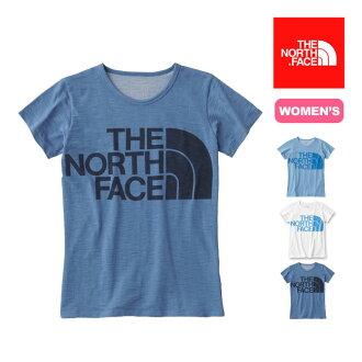 3張<剩下!>北臉S/S亞麻布標識船員THE NORTH FACE短袖女性女士SALE促銷
