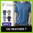 <のこりわずか!>【10%OFF】<2016年秋冬新作!> ibex アイベックス メンズ ODヘザーT 【送料無料】メンズ 男性 ウール シャツ インナー アンダーウェア 軽量 ベースレイヤー メリノウール トップス Tシャツ