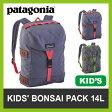 <残りわずか!>【20%OFF】パタゴニア patagonia キッズ ボンサイパック 14L バッグ リュック 遠足 登山 通園 通学 子供 ハイキング