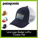 【15%OFF】patagonia パタゴニア ラインロゴバッジ ロープロ トラッカーハット キャップ 帽子 ハット メンズ レディース キャンプ スポーツ アウトドア