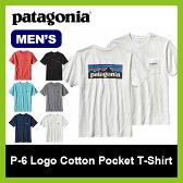<残りわずか!><2017年春夏新作!> patagonia パタゴニア メンズ P6 ロゴコットンポケットTシャツ 【送料無料】 ロゴ コットン ポケット Tシャツ 綿 トップス 半袖