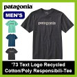 <残りわずか!>【40%OFF】パタゴニア patagonia メンズ '73テキストロゴ リサイクルコットン/ポリ レスポンシビリティー 【送料無料】 Tシャツ 半袖 プリントT ウェア トップス 男性 キャンプ レジャー フェス