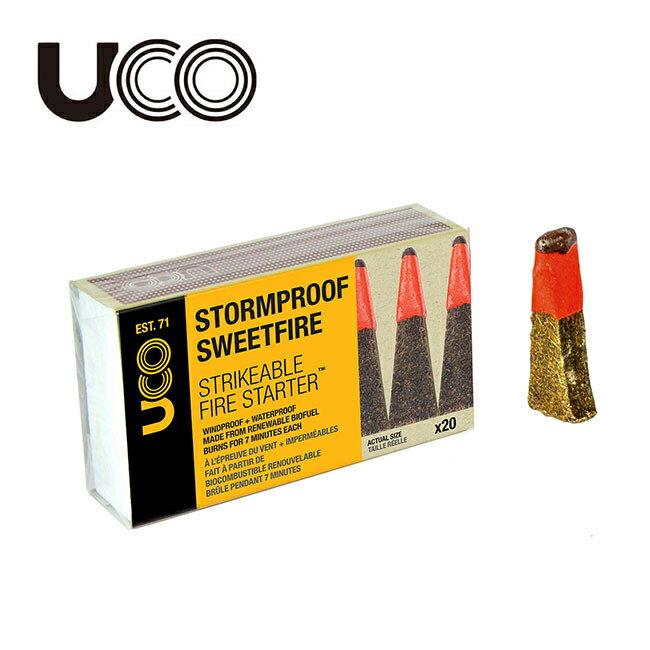 アウトドア, 燃料  UCO STORMPROOF SWEETFIRE - STRIKABLE