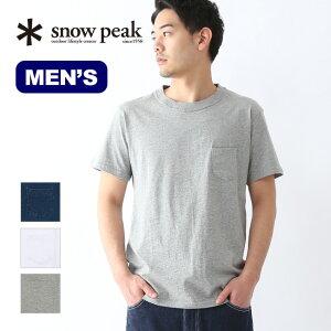 スノーピーク ポケットTシャツ snow peak Pocket Tshirt SW-17SU103 ウェア メンズ Tシャツ トップス 半袖<2020 春夏>
