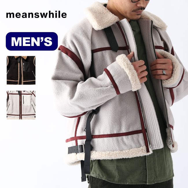 メンズウェア, アウター  B3 meanswhile Retro Fleece Melton B3 MW-JKT20211