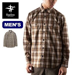 フォックスファイヤー SCミドルチェックシャツ Foxfire SC Middle Check Shirt メンズ 5212187 シャツ ジャケット トップス 防虫 着る防虫 チェックシャツ ボタンシャツ キャンプ アウトドア 【正規品】