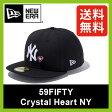 <残りわずか!>【30%OFF】 ニューエラ 59FIFTY クリスタルハート ニューヨークヤンキース 【送料無料】 【正規品】NEWERA 帽子 キャップ NY ニューヨーク ヤンキース ベースボールキャップ 59FIFTY Crystal Heart NEW YORK YANKEES SALE セール
