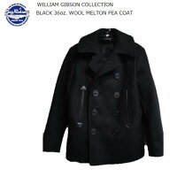 【BuzzRickson'sWILLIAMGIBSONCOLLECTION】ブラックピーコートBLACK36oz.WOOLMELTONPEACOAT★BR12394