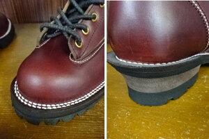 SLOWWEARLION☆(バーガンディ赤茶)ホーウィン社クロムエクセルレザー8インチレースブーツ[OB-8228HTBURGUNDY](スローウェアライオン)国産ならではの履き心地
