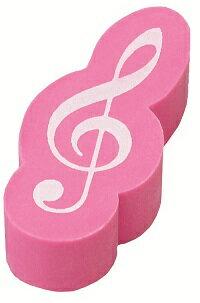 ト音記号立体消しゴム ピンク♪ この商品はお取り寄せ商品です♪♪ピアノ教室・バイオリン教室・吹奏楽部の記念品にピアノ発表会 記念品 音楽会粗品 に最適♪レッスントート 音楽雑貨 ねこ雑貨 バレエ雑貨