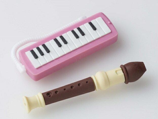 消しゴム 管楽器 ピンク ♪お取り寄せ商品です。♪♪ 【ピアノ発表会 記念品 に最適♪】音楽雑貨 ねこ雑貨 バレエ雑貨 ♪記念品に最適 音楽会粗品