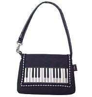 スマートフォンミニバッグ/鍵盤♪お取り寄せ商品です♪【音楽雑貨音符・ピアノモチーフ】【バレエ発表会の記念品に最適♪】お取り寄せ大量注文できます♪音符ト音記号楽譜