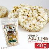 賞味期限:2020/4/25【尾田川農園】サクサク有機玄米と雑穀 40g(約20枚入り)