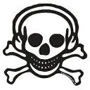 【メール便対応】UG(ユージー) HEADPHONE SKULL Sticker ヘッドフォンスカルステッカー Lサイズ
